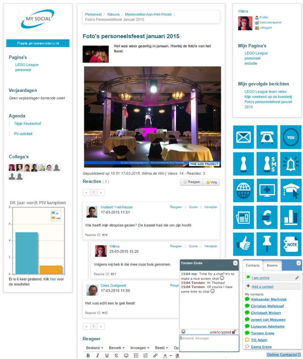 Zakelijk en sociaal intranet