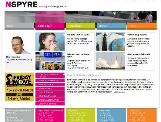 Nieuwe website van Nspyre