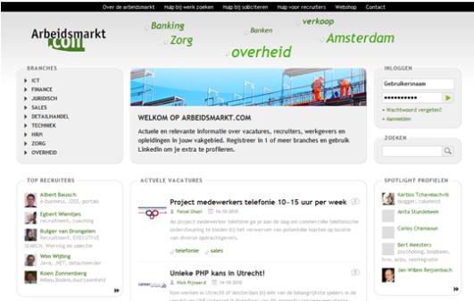Arbeidsmarkt vernieuwd met Social Networking door PortalCMS