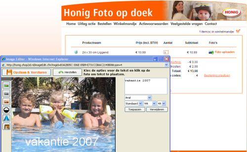 Scherm van de Honig Foto Op Doek Online Image Editor