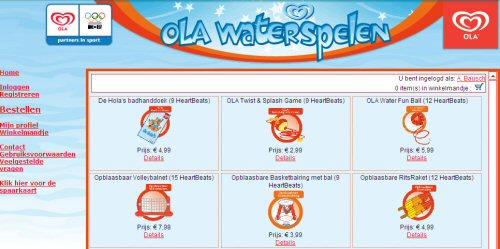 OLA WaterSpelen Webshop door i-Concept