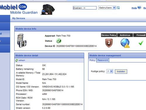 Veiligmobiel.com beveiliging voor PDA en Smartphone